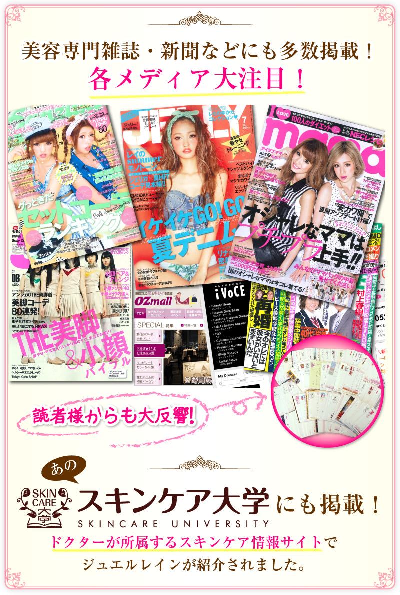 美容専門雑誌・新聞などメディアに多数掲載されています!